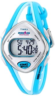 Timex Woman's T5K785 Ironman Sleek 50-Lap Turquoise Resin Strap Watch