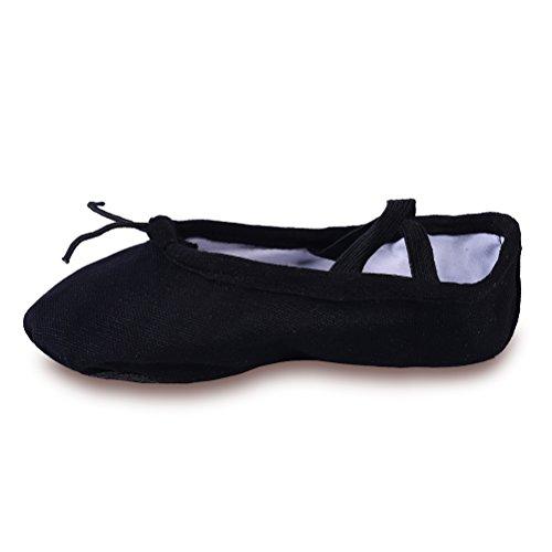 yyxr-big-kid-girls-kids-classic-black-canvas-split-sole-ballet-slippers-dance-gymnastics-yoga-shoes-