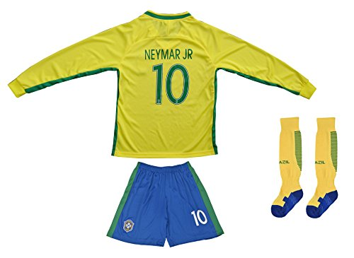 brand new 54df6 0f116 BRAZIL NEYMAR JR #11 Home Football Soccer Kids Jersey Short - Import It All