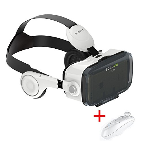Xiaozhai Bobovr z4 VR 3D Glasses Virtual Reality Headset VR Box 120 Degrees FOV 3D Movie Video Game for Iphone 6 6s plus Samsung Galaxy S6 4.0-6.0 inches Smartphone with Bluetooth Remote Control