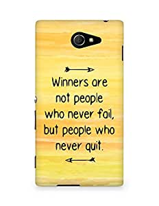 AMEZ but people who never quit Back Cover For Sony Xperia M2 D2302