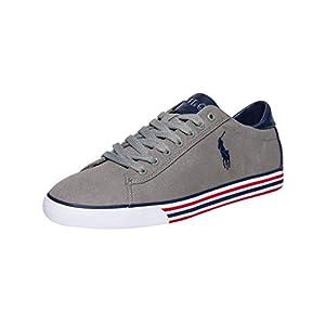 Polo Ralph Lauren Canvas Harvey Sneaker Museum Grey/Newport Navy 10.5 D