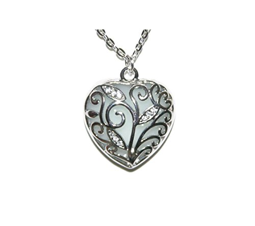 Most Beloved Steampunk Glow in the Dark Heart Necklace By Lifetime