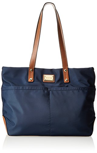 Calvin Klein East West Nylon Tote,Navy,One Size