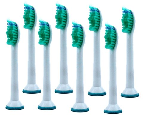 Standard Replacement Toothbrush Heads Hx6014/66 For Philips Diamond Clean, Flexcare, Healthywhite (8 Units)