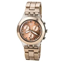 SWATCH SVCK4047AG full blooded caramel chronograph copper dial stainless steel bracelet men watch NEW