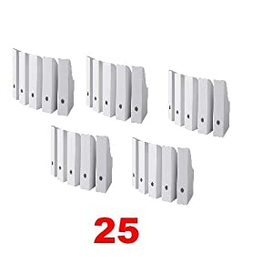 Flyt 25 Pack White Magazine File Holder Rack Case