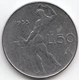 Italien KM-No.. : 95 1962 excelente acero 1962 50 liras vulcanus (monedas para Collector)