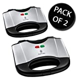 2x Russell Hobbs 17936 Two Slice Sandwich Maker
