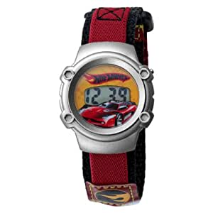 Kids' 7100022 Character Silver-Tone Hot Wheels Digital Watch