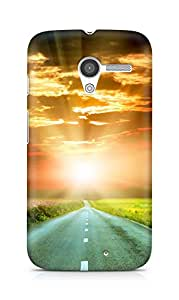 Amez designer printed 3d premium high quality back case cover for Motorola Moto X (Sunset road)