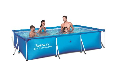 Bestway 56043 Rectangular Deluxe Splash Frame Pool