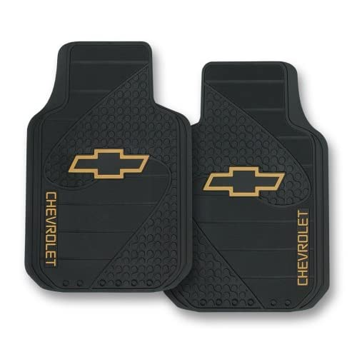 Chevy Bowtie Classic Gold Logo Car Truck Rubber Floor Mats
