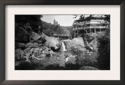 Exterior View of Cliff House, Big Oak Flat Road, Pond - Groveland, CA Framed Art Poster Print, 19x13 (Cliff House Poster compare prices)