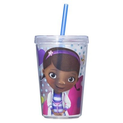 Zak Designs Doc Mcstuffins To-Go Tumbler with Straw Toy