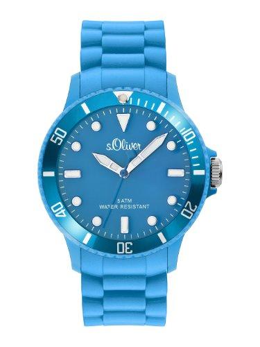 s.Oliver Unisex-Armbanduhr Big Size Silikon blau SO-2319-PQ