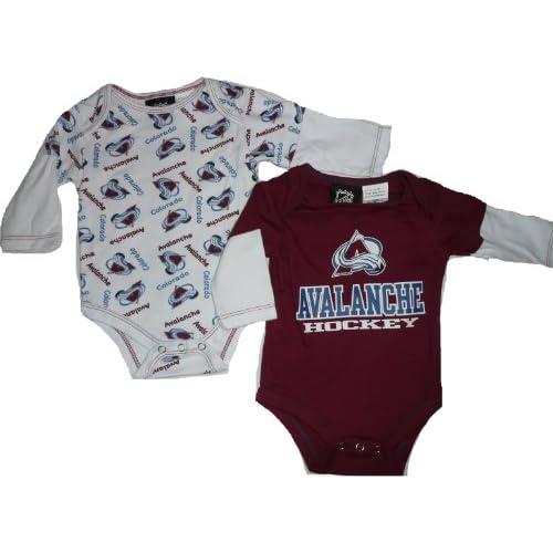 Com colorado avalanche 2pc creeper onesie set 18 month baby infant