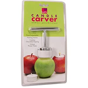 Apple HOLIDAY candle CARVER Christmas centerpiece DECOR