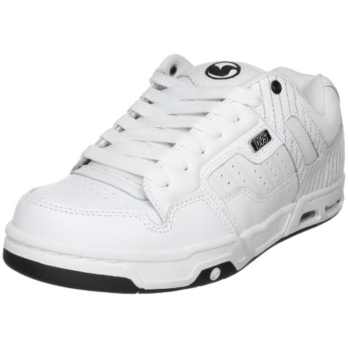 DVS Men's Enduro Heir Skate Shoe,White Leather Pinstripe,12 M US