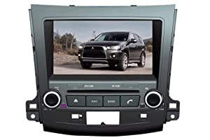 Piennoer In Dash Navigation Original Fit (2007-2011) Mitsubishi Outlander 6-8 Inch Touchscreen Double-DIN Car DVD Player & In Dash Navigation System,Navigator,Built-In Bluetooth,Radio with RDS,Analog TV, AUX&USB, iPhone/iPod Controls,steering wheel control, rear view camera input