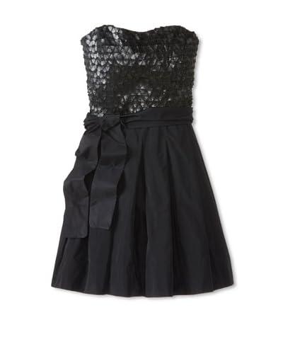 Aida Women's Faux Leather Corset Dress