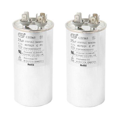 2 PCS CBB65A AC 450V 35uF Non Polar Air Conditioner Motor Capacitor