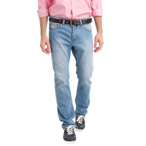 Springfield Men's Bleacher Light Wash Five Pocket Jeans, 28, navy