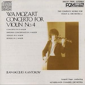 Mozart: Concerto For Violin No. 4 (The Complete Works for Violin & Orchestra 2)