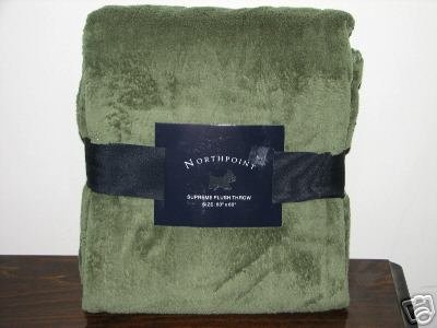 """Northpoint Supreme Plush Throw **New** 50"""" X 60"""" (Available In Red, Maroon, Navy, Grey, Brown, Blue, Khakis) front-890346"""