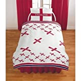 England Football Reversible Duvet Cover Set Bedding with Pillow Case