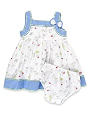 2 Piece Autograph Pure Cotton Floral Dress & Knicker Set