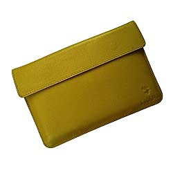i-KitPit : Genuine Leather Pouch Case For Videocon VT85C (YELLOW)