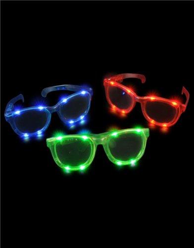 Lot Of 12 Jumbo Flashing Led Light Up Party Rave Sun Glasses Costume Accessory