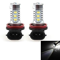 See HJ H8 16W 1400lm 6000-6500K 164*Cree LED Bulb for Car Foglight White Light (12-24V, 2Pcs) Details