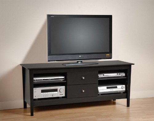 Cheap Plasma TV Stand Console Table with Media Storage Black Finish (AZ00-46197×20792)