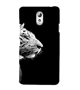 PrintVisa Animal Tiger Design 3D Hard Polycarbonate Designer Back Case Cover for Lenovo Vibe P1M
