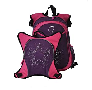 Obersee Munich School Backpack with Detachable Lunch Cooler, Rhinestone Star