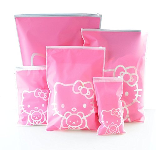 1-Set-HELLO-KITTY-Waterproof-Travel-Pouch-Luggage-Clothes-Finishing-Storage-bag-Practical-Portable-Storage-Bags