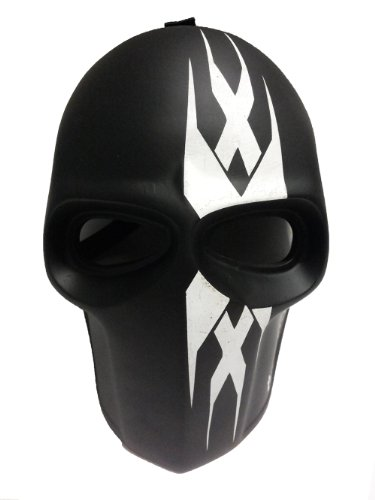 New Unique Handmade The TRIPLE - x Paintball Airsoft BB Gun Mask Black WHITE Army PROTECTIVE GEAR OUTDOOR SPORT And Fancy Party Ghost Masks.