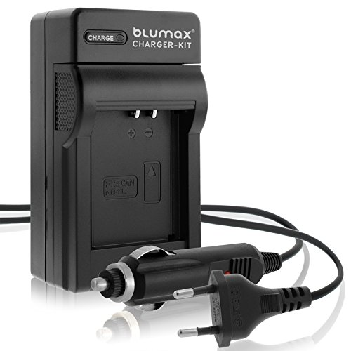Blumax® Akku Ladegerät 4,2V für Canon Ixus 125 HS Lader KFZ AUTO + HAUS Charger
