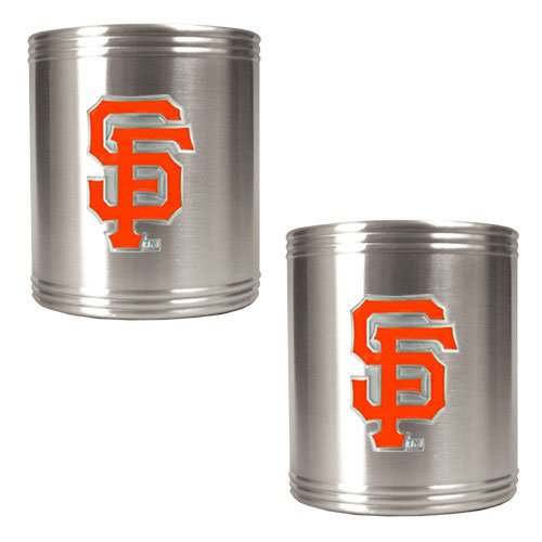 Mlb San Francisco Giants Two Piece Stainless Steel Can Holder Set- Primary Logo