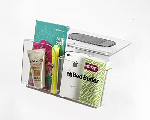 Find Discount Bed Butler Mini - Bedside Caddy for Tablets, Remotes, Cell Phones, Glasses & More