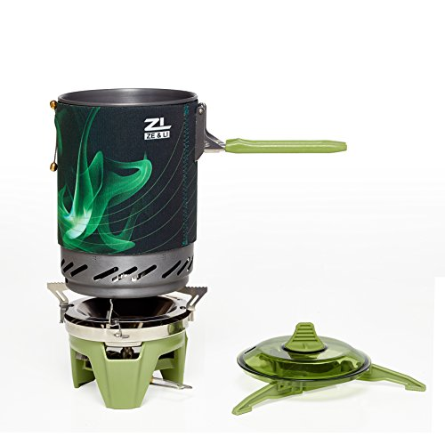 Portable Camp Stove Burner by Ze&Li, Ultralight Backpacking Canister for Hiking, Camping and Outdoor Adventures, All-In-One Solution (Pellet Stove Ignighter compare prices)