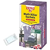 Zero In Clothes Moth Killer Sachets - 24 Pack