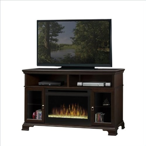 Dimplex Brookings Electric Fireplace w/ Glass Ember in Espresso image B005TVH69I.jpg