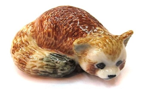 3 D Ceramic Toy Red Panda No.3 Dollhouse Miniatures Free Ship - 1