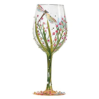 Dragonfly Summer Artisan Painted Wine Glass Gift