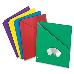 Pendaflex Essentials Slash Pocket Folder , Assorted