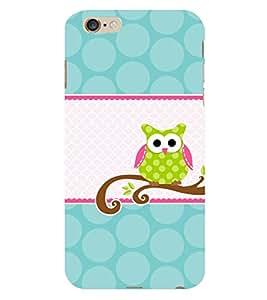 Owl Design 3D Hard Polycarbonate Designer Back Case Cover for Apple iPhone 6