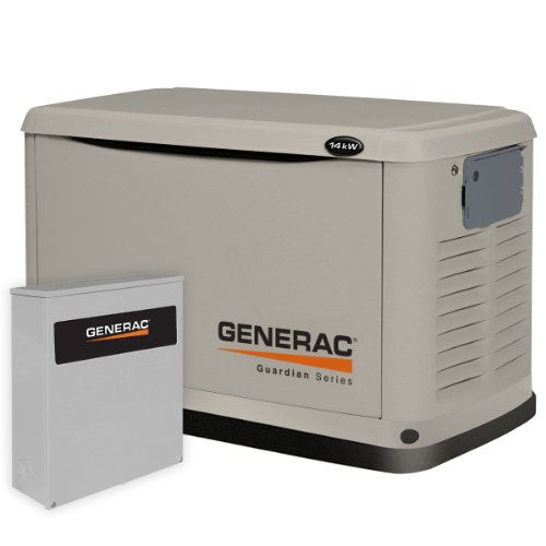 Generac 6241 14,000 Watt Air-Cooled Steel Enclosure Gas Powered Standby Generator with 200-Amp Smart Transfer Switch at Sears.com